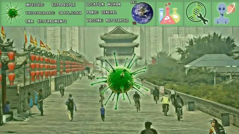 coronavirus simulator ciudad infectada