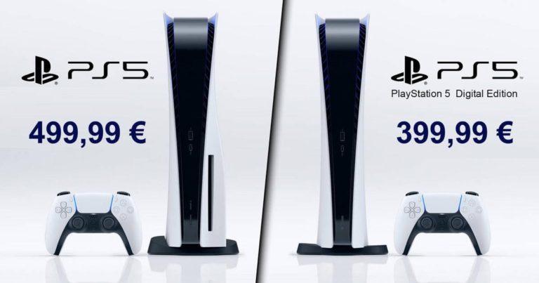 Precio PS5: 399€ la edición digital y 499€ la normal