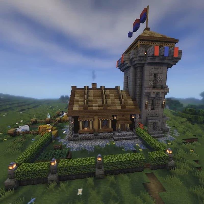 construccion medieval minecraft