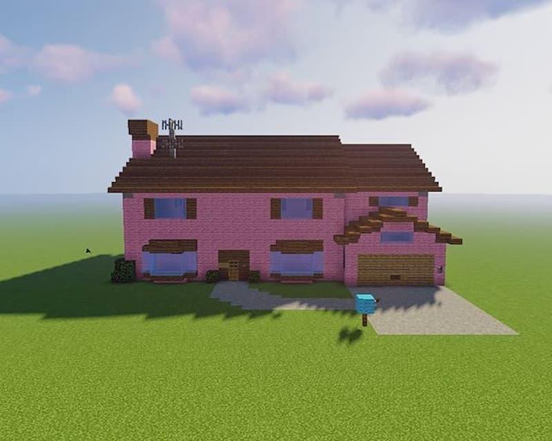 minecraft casa simpsons