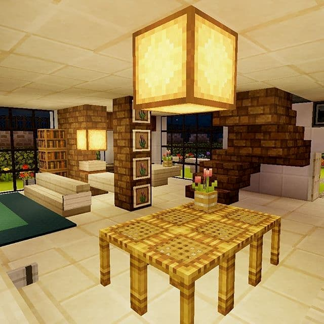 minecraft interior casa lujo