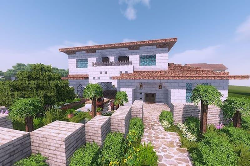 villa lujosa minecraft