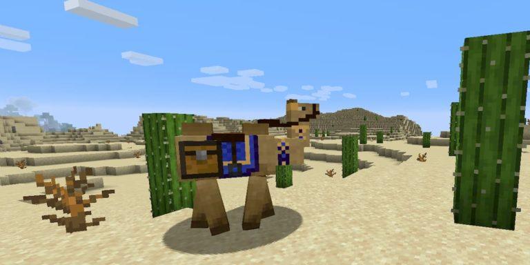 Cómo incorporar camellos a tu mundo de Minecraft