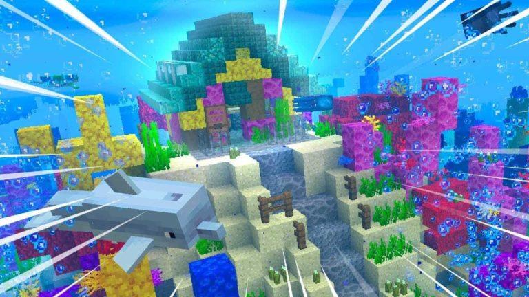 Localización y uso del coral de mar en Minecraft