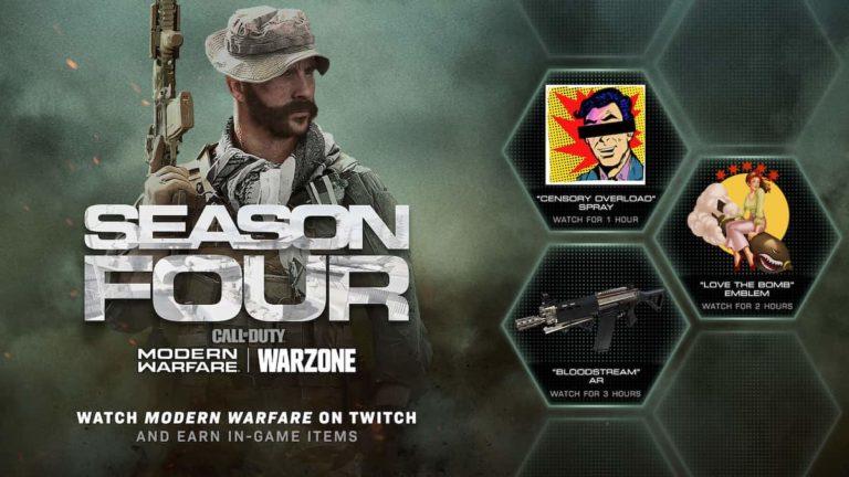 Estos son los regalos que pueden caerte al ver streamings de Modern Warfare o Warzone