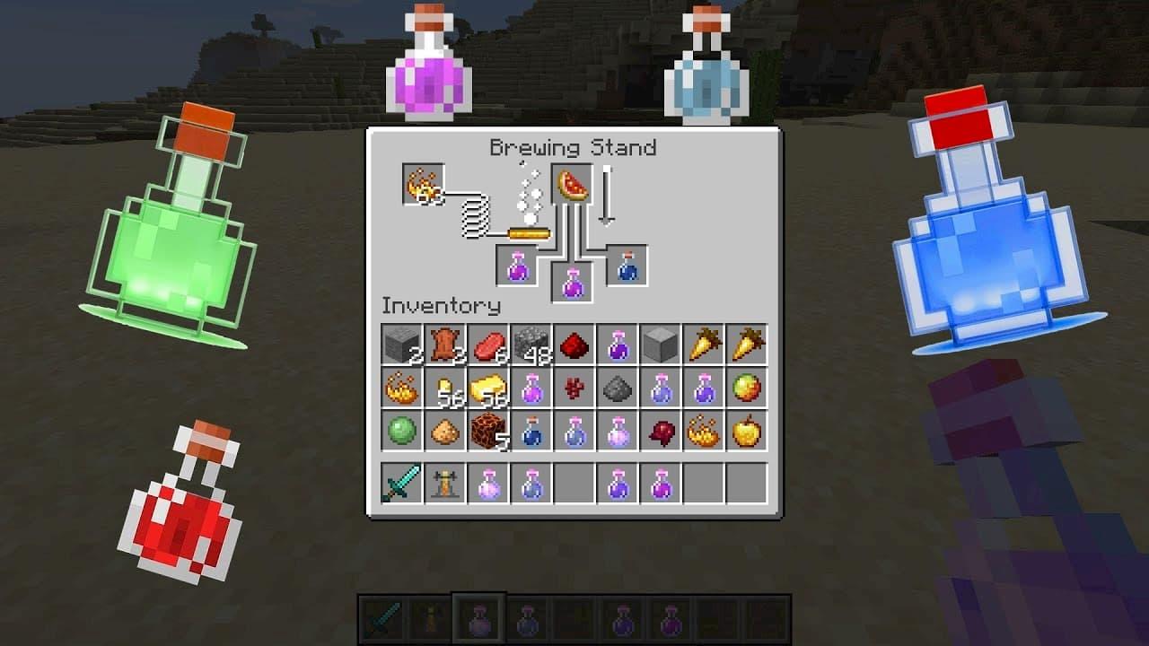 Guía sobre las diferentes pociones en Minecraft: uso, efectos,