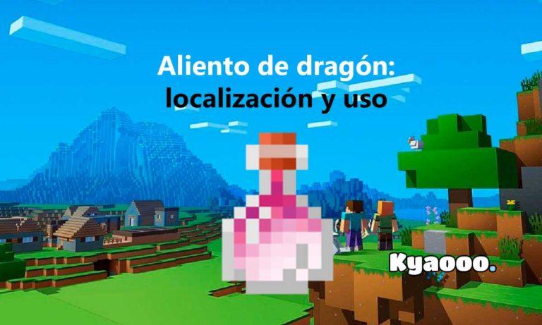 Aliento de dragón de Minecraft: para qué sirve y cómo se consigue