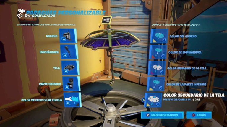 Así se consigue el paraguas personalizable de Fortnite
