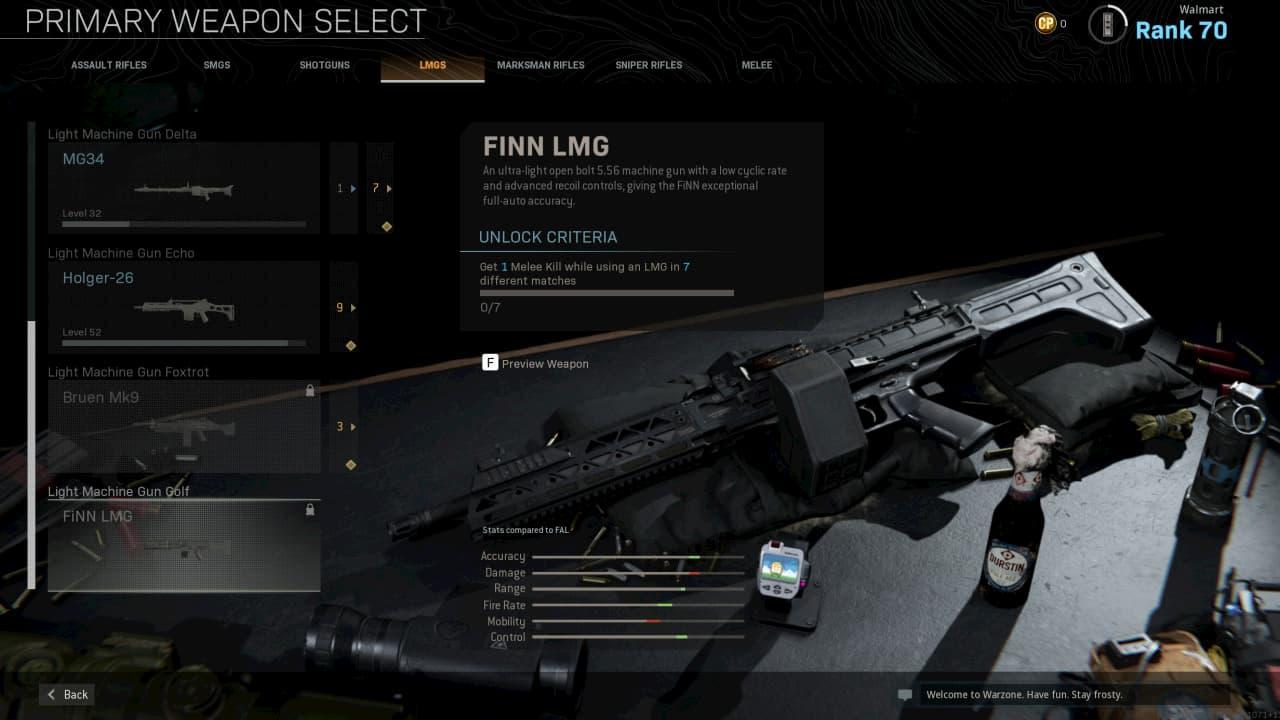 La FiNN LMG es la nueva ametralladora de Warzone