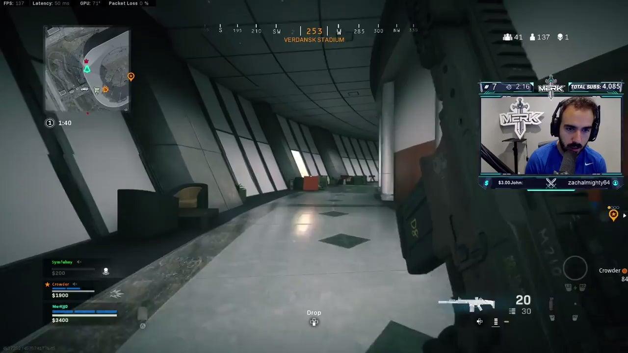 Así te puedes hacer invisible en una parte del estadio de Warzone