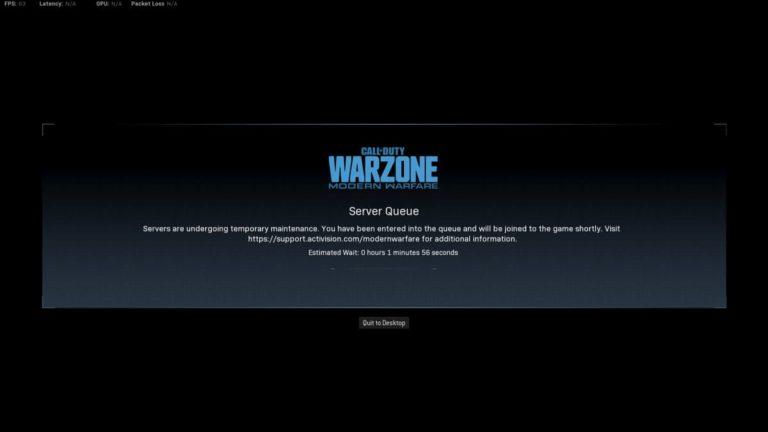 warzone error servidor
