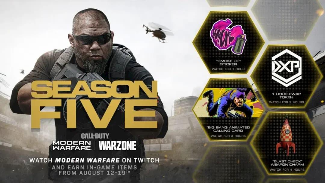Estos serán los premios de Warzone en Twitch