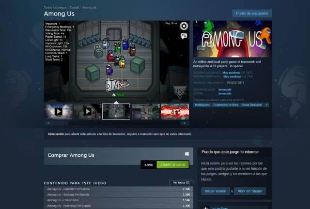 Among Us se come el récord de Fall Guys y ya es el juego más vendido en Steam