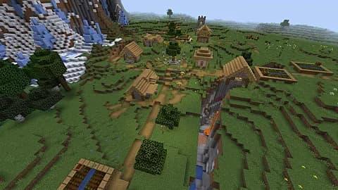 aldea madera minecraft octubre 2020
