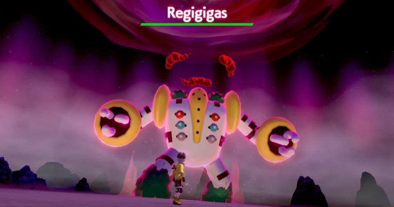 Cómo conseguir a Regigigas en Nieves de la Corona de Pokémon Escudo y Espada