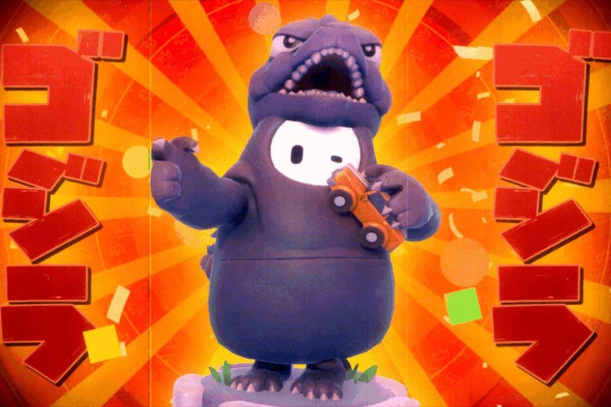 Esta es la impresionante y cautivadora skin de Godzilla en Fall Guys
