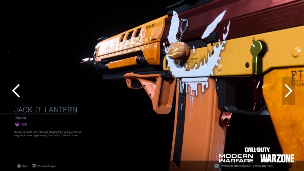 pumpkin punisher warzone skin legendaria