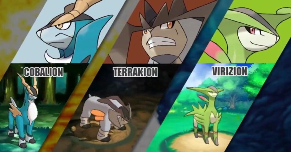 Cómo encontrar a Cobalion, Terrakion y Virizion en Pokémon Escudo y Espada