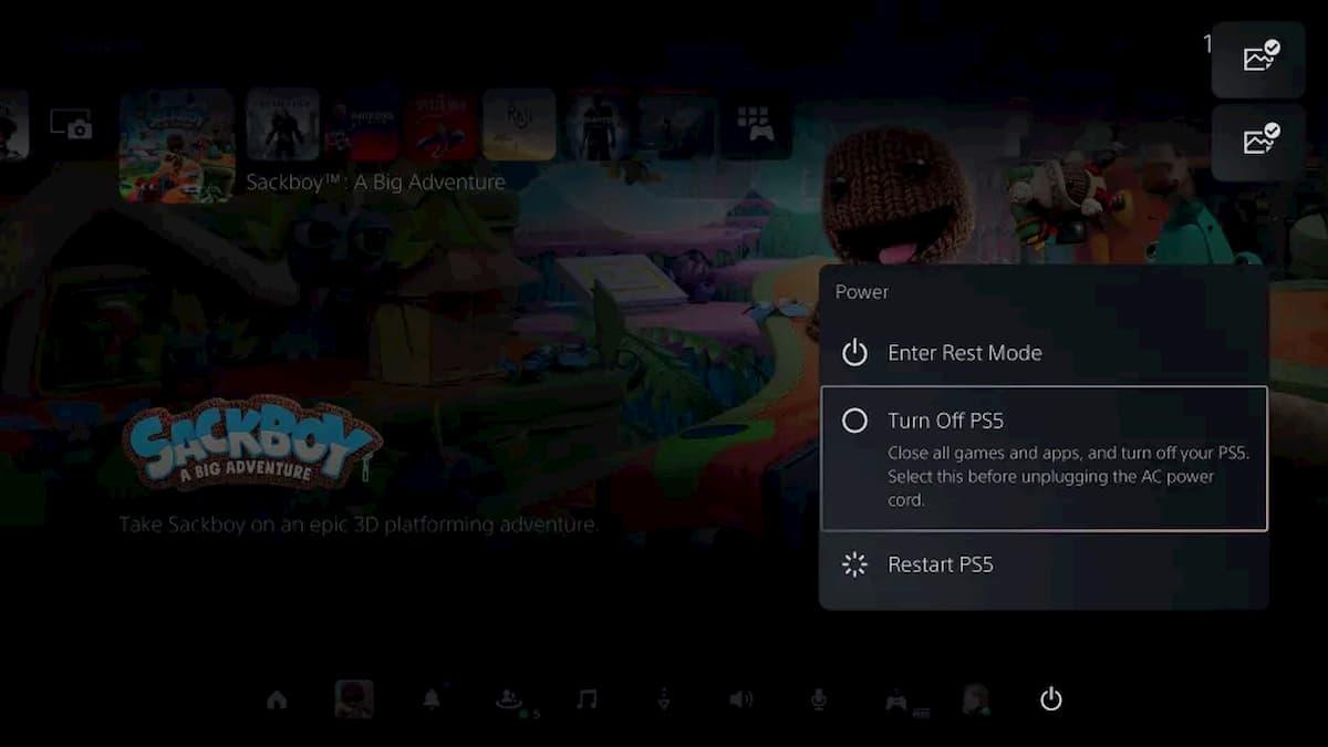 Como apagar la PlayStation 5 desde el mando (DualSense)