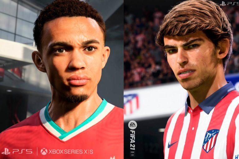 Así de realistas se verán los futbolistas de FIFA 21 en PS5 y Xbox Series X