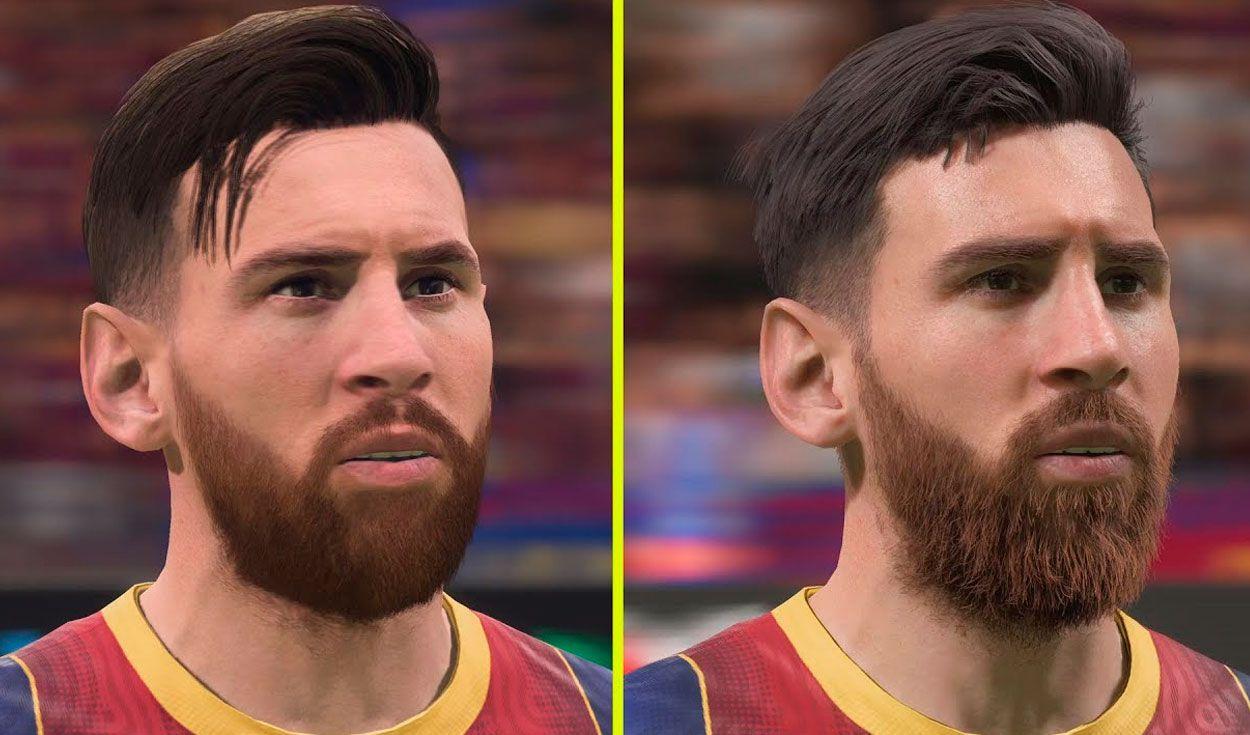 La comparación de los gráficos de FIFA 21 en PS4 y PS5