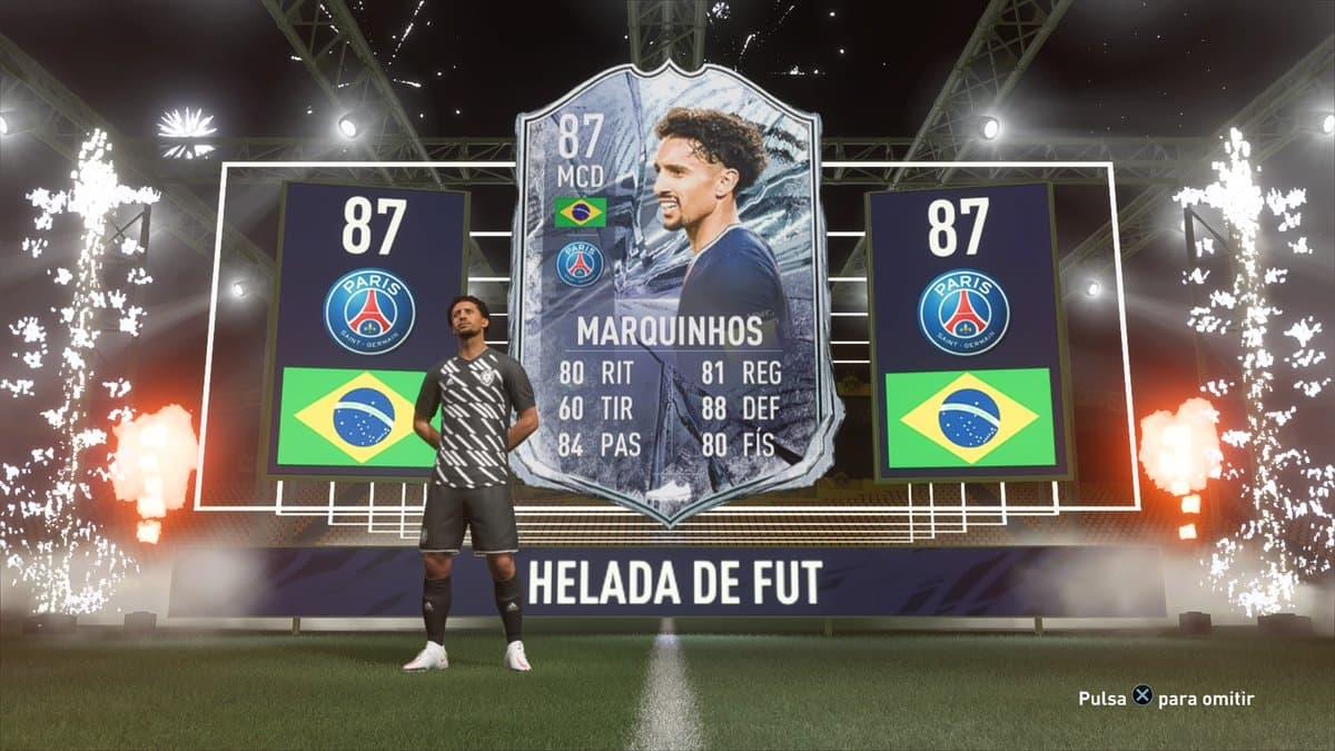 Cómo conseguir la Carta Helada de Marquinhos en FIFA 21