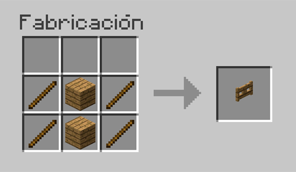 receta puerta valla minecraft