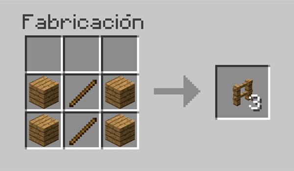 receta valla minecraft