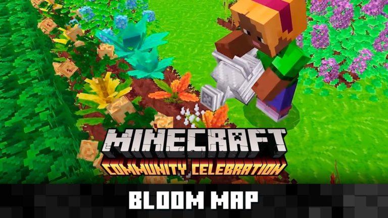 Así es Bloom, el nuevo mapa de Minecraft centrado en labores de jardinería