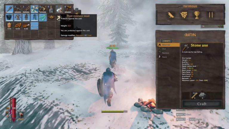 Cómo protegerse del frío en Valheim