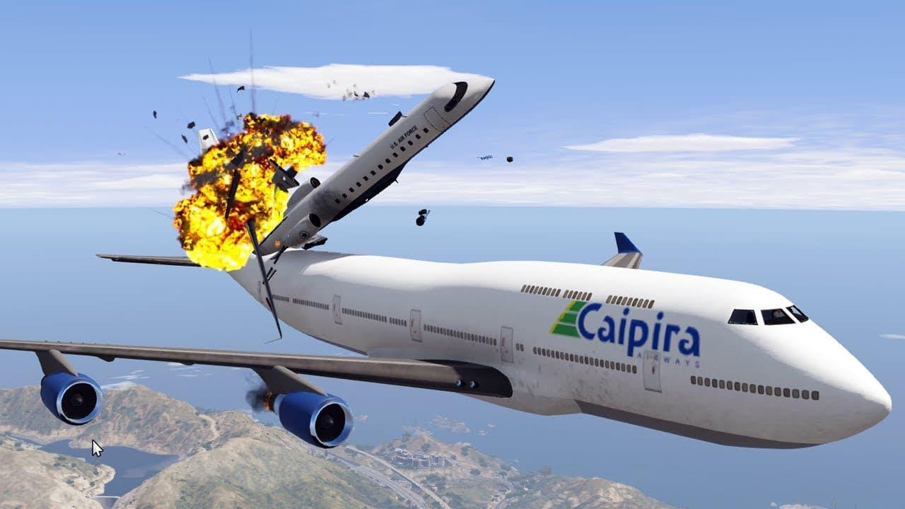Un Youtuber muestra que pasa en los distintos GTA si dos aviones chocan en el aire