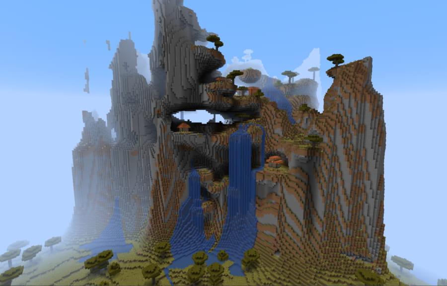 aldea montaña minecraft