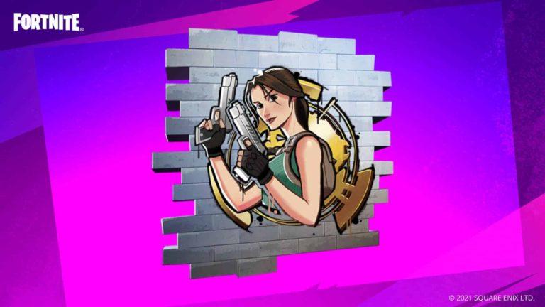 Cómo conseguir gratis el grafiti de Lara Croft en Fortnite