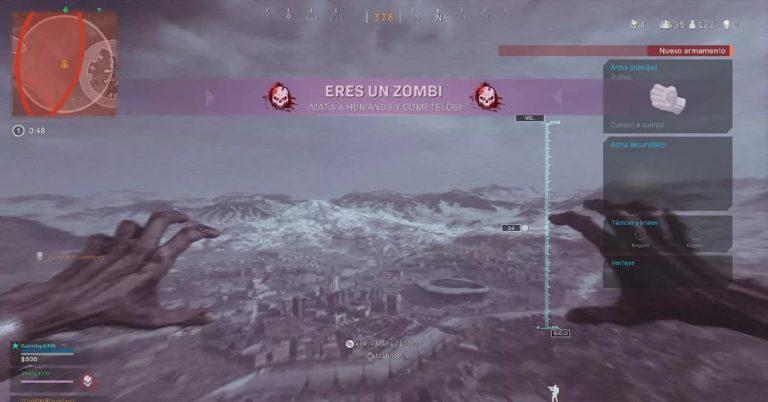 Dónde puedes convertirte en zombi al morir en Warzone