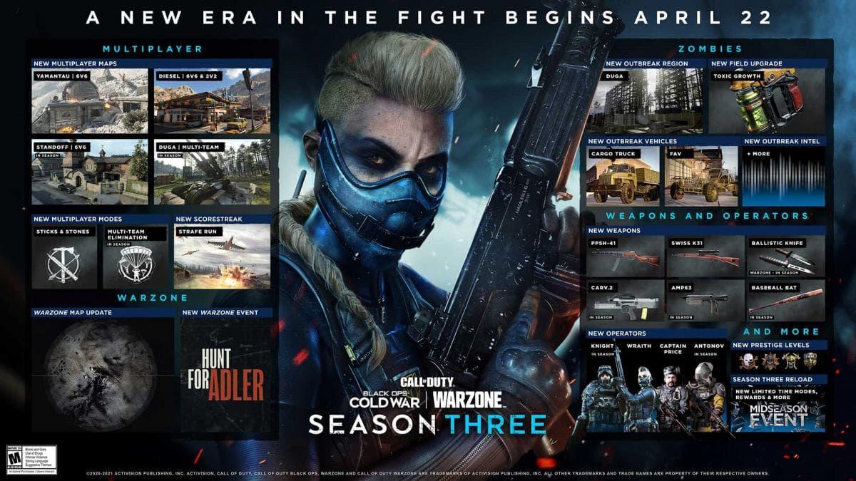 Estas son todas las novedades que veremos en la Temporada 3 de CoD: Black Ops Cold War