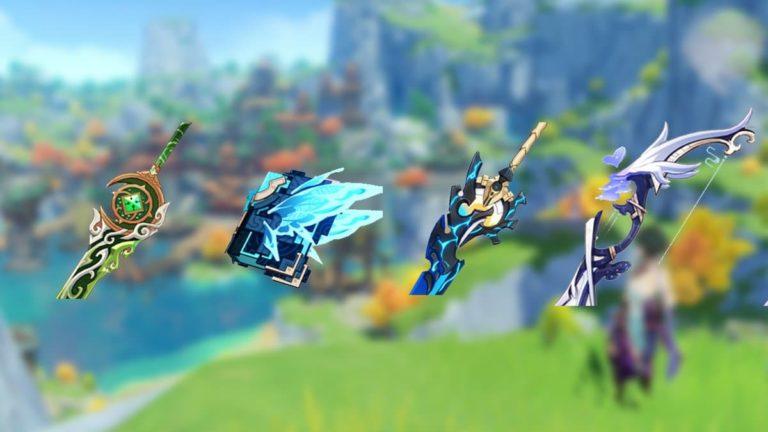 Estas son las nuevas armas que llegarán a Genshin Impact en el parche 1.5