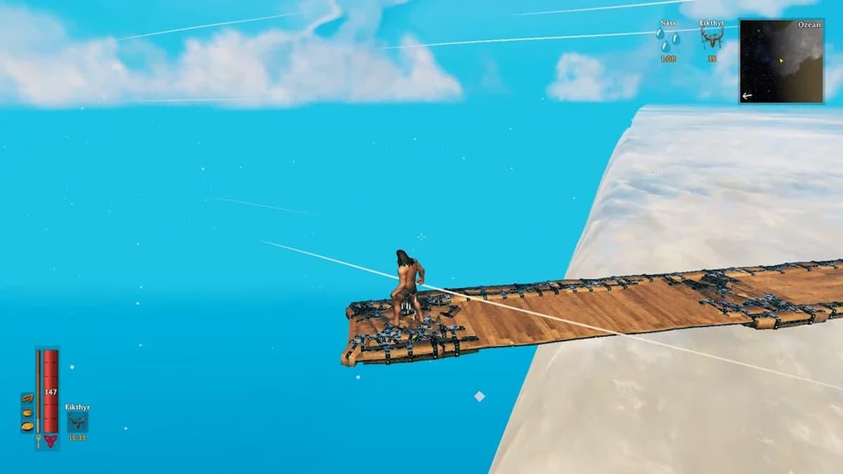 Valheim: un aficionado construye un puente para caminar hasta el Fin del Mundo