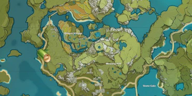 localizacion segmentos bambu genshin impact 1