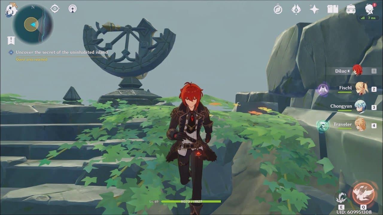 Cómo descubrir el secreto de Isla Inhabitada en Genshin Impact
