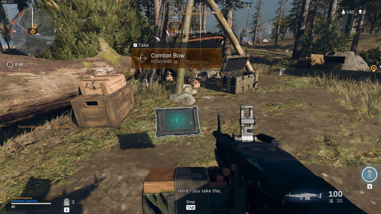 Dónde encontrar los arcos de combate en Warzone