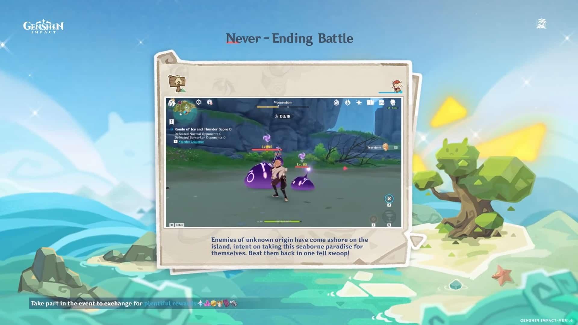 Todas las recompensas de Batalla sin fin de Genshin Impact