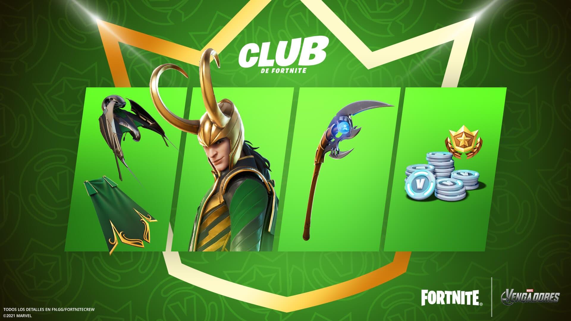 Todas las recompensas del Club de Fortnite de julio de 2021