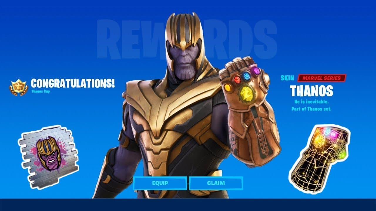 Así es la recién estrenada skin de Thanos en Fortnite