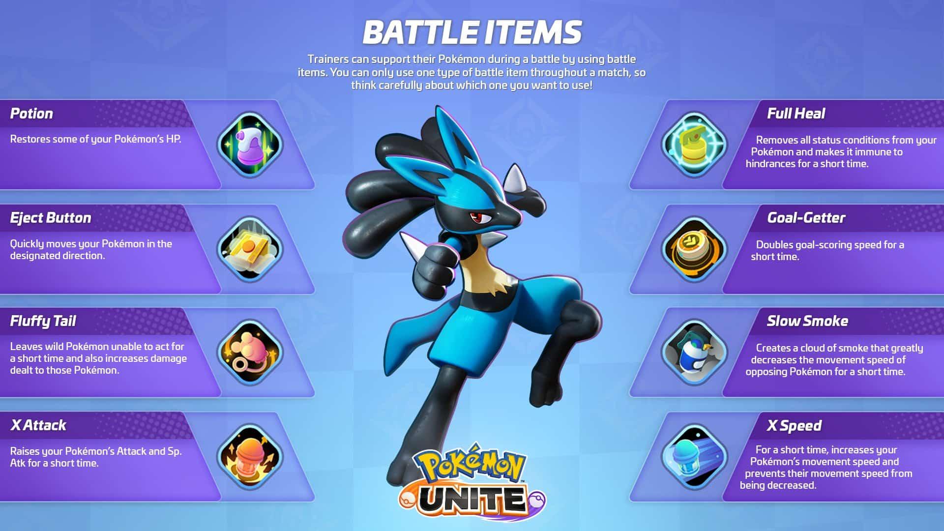 Todos los objetos consumibles de Pokémon Unite   Kyaooo