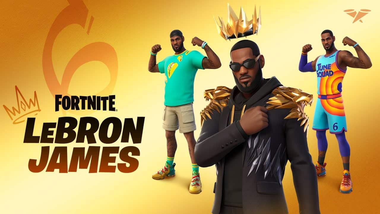Así es la skin de Lebron James en Fortnite