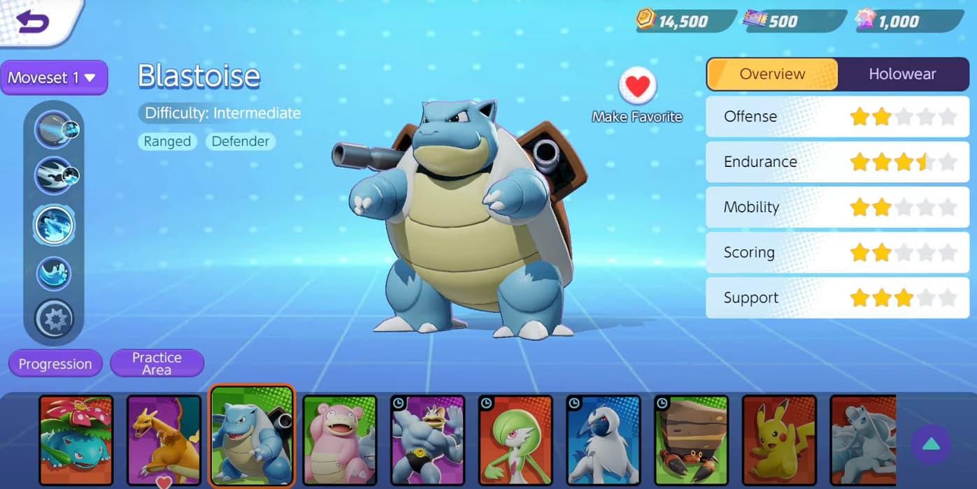 Fecha de lanzamiento de Blastoise en Pokémon Unite