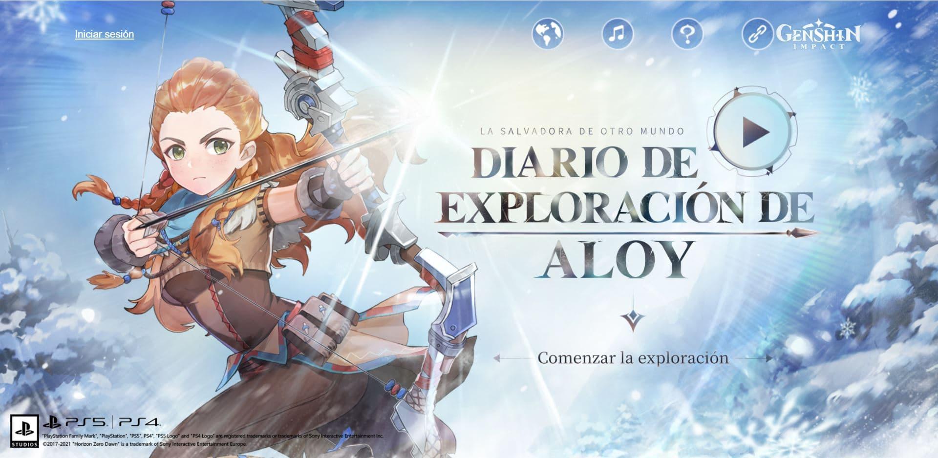 Así es el evento Diario de exploración de Aloy en Genshin Impact