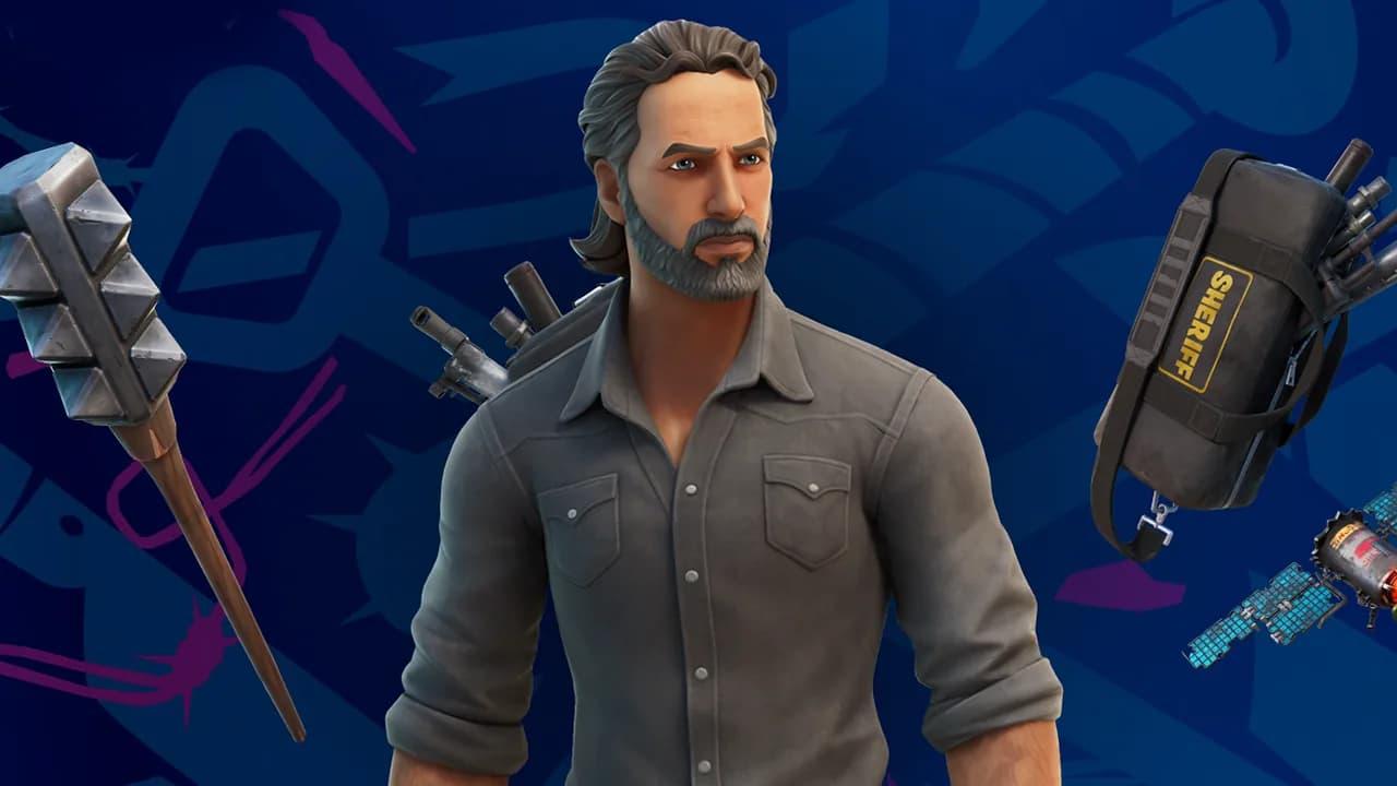 Así es la skin de Rick Grimes de 'The Walking Dead' en Fortnite